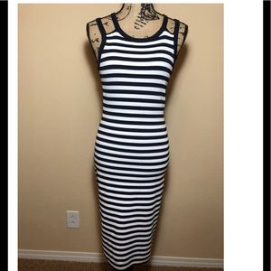 Michael Kors Striped Tank Dress